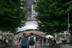 walking towards The Bean