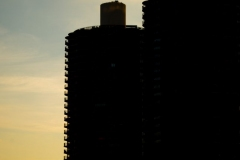 Marina Towers silhouetted