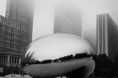 The Bean in fog - Chicago